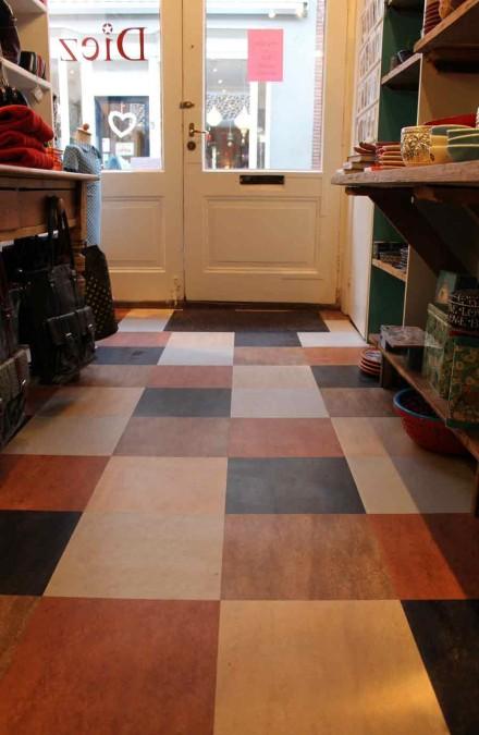 Winkelvloer met Forbo Dual marmoleum