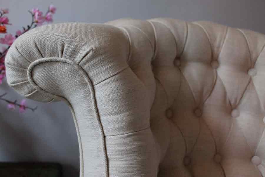 met een linnen de Ploeg meubelstof