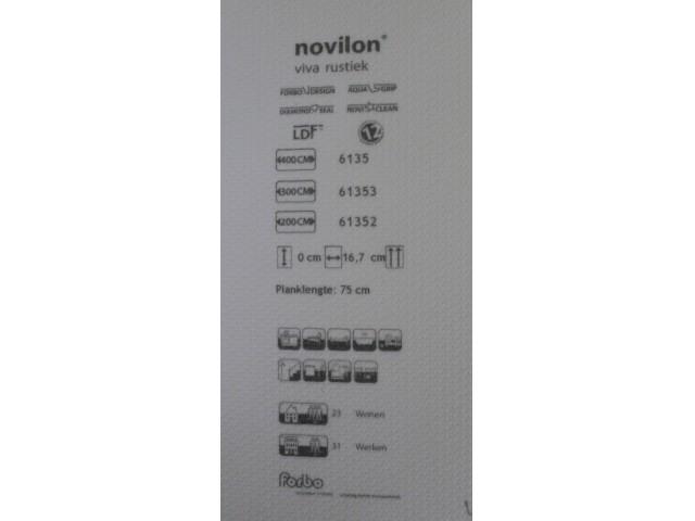 Rest voorraad Novilon Viva rustiek 61353 maat 3,63x 300 br. en 3,35 x 1,00 br. Van € 230,- voor € 125,-