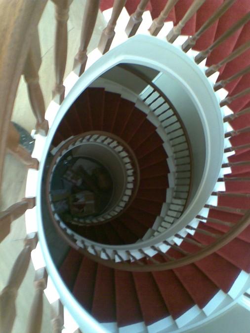 Stoffering van trappenhuis te Amsterdam,